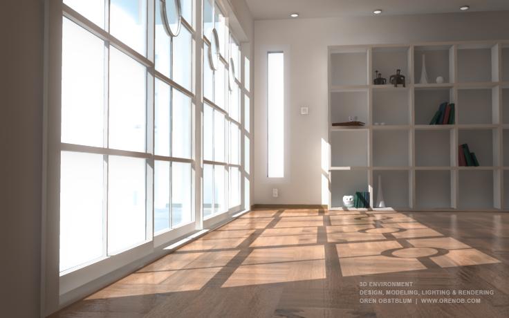 D environment interoir design concept u modeling lighting